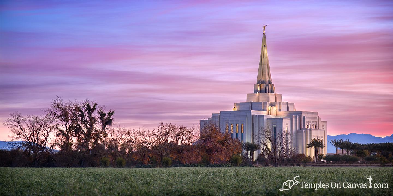 Gilbert AZ Temple – LDS Temple Art – LDS Temples On Canvas – LDS ...
