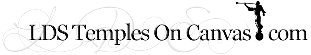 LDS Temples On Canvas – LDS Temple Pictures Retina Logo